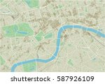 vector city map of london with... | Shutterstock .eps vector #587926109