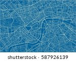 blue and white vector city map... | Shutterstock .eps vector #587926139