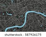 black and white vector city map ... | Shutterstock .eps vector #587926175