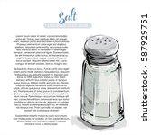 hand draw of salt shaker.... | Shutterstock .eps vector #587929751