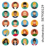 character set  avatar icons in... | Shutterstock .eps vector #587930129