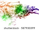 colored smoke isolated on white ...   Shutterstock . vector #587930399
