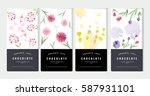 chocolate bar packaging mock up ... | Shutterstock .eps vector #587931101