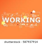 creative illustration of... | Shutterstock .eps vector #587937914