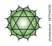 seven major chakras. anahata...   Shutterstock .eps vector #587944235