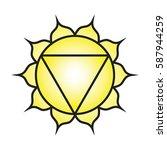 seven major chakras. manipura...   Shutterstock .eps vector #587944259