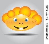 smiling happy face emoji   Shutterstock .eps vector #587945681