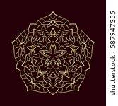 ornate abstract color mandala...   Shutterstock .eps vector #587947355