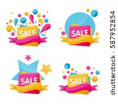 vector collection of brigt...   Shutterstock .eps vector #587952854