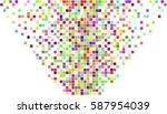 colorful festive pixel...   Shutterstock .eps vector #587954039