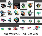 mega collection of low poly... | Shutterstock .eps vector #587955785