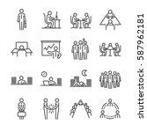 businessman line icon set.... | Shutterstock .eps vector #587962181