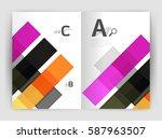 business a4 business brochure... | Shutterstock .eps vector #587963507