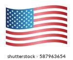 wavy flag of america. | Shutterstock .eps vector #587963654