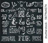 doodles ampersands and... | Shutterstock .eps vector #587964074