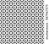 repeated black figures on white ... | Shutterstock .eps vector #587967575