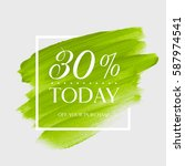 sale today 30  off sign over... | Shutterstock .eps vector #587974541
