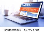 digital marketing text on
