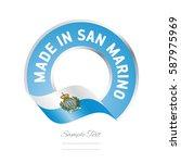 made in san marino flag blue... | Shutterstock .eps vector #587975969
