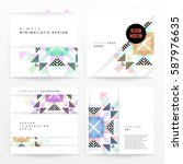 memphis geometric background... | Shutterstock .eps vector #587976635