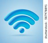3d wi fi wireless network... | Shutterstock .eps vector #587978891