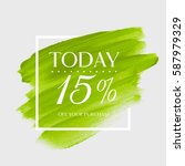 sale today 15  off sign over... | Shutterstock .eps vector #587979329