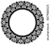 mandalas for coloring book.... | Shutterstock .eps vector #587980025
