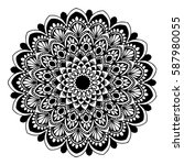 mandalas for coloring book.... | Shutterstock .eps vector #587980055