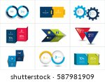 two elements banner. 2 steps... | Shutterstock .eps vector #587981909