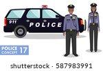 policeman concept. detailed... | Shutterstock .eps vector #587983991