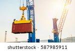 business logistics concept... | Shutterstock . vector #587985911