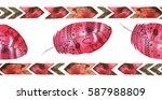 boho seamless pattern... | Shutterstock . vector #587988809