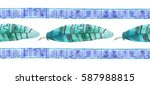 boho seamless pattern... | Shutterstock . vector #587988815