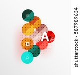 vector circle banner. vector... | Shutterstock .eps vector #587989634