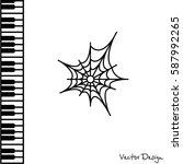 web line icon. spiderweb  web... | Shutterstock .eps vector #587992265