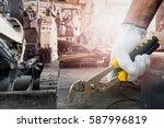 close up of a human hand...   Shutterstock . vector #587996819