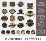 set of insignias  logotypes ... | Shutterstock .eps vector #587997599