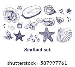 vector hand drawn collection of ... | Shutterstock .eps vector #587997761