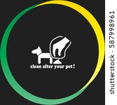 clean after pet vector  icon