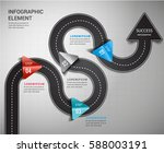 road arrow timeline way to... | Shutterstock .eps vector #588003191