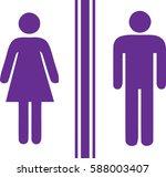 toilet man women purple   Shutterstock .eps vector #588003407