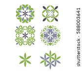 set of abstract template logo...   Shutterstock .eps vector #588003641