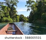 view from a boat on a river of... | Shutterstock . vector #588005531