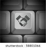 Handshake Icon On Computer...