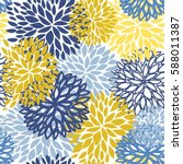 spring floral seamless pattern. ... | Shutterstock .eps vector #588011387