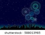 vector illustration of a... | Shutterstock .eps vector #588013985
