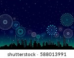 vector illustration of a... | Shutterstock .eps vector #588013991