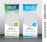 roll up brochure flyer banner... | Shutterstock .eps vector #588014054