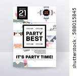 invitation disco party poster... | Shutterstock .eps vector #588015845