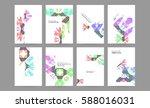 memphis geometric background... | Shutterstock .eps vector #588016031